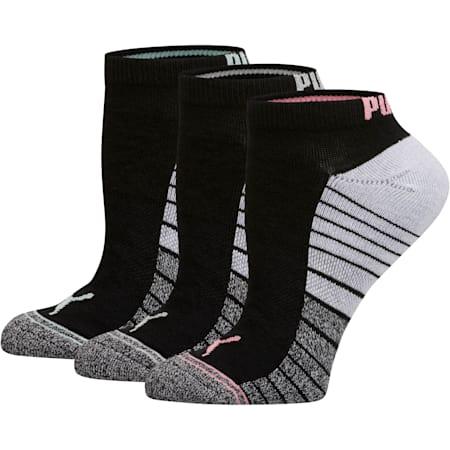 Women's Low Cut Socks [3 Pack], BLACK COMBO, small